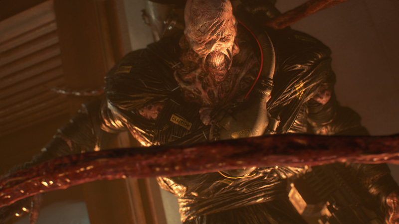 Nemesis will constantly hunt you down throughout the game, but it's not as stressful an experience as the game wants it to be. I would even go so far as to say that Resident Evil 2's Mr. X was a much more formidable villain during gameplay.
