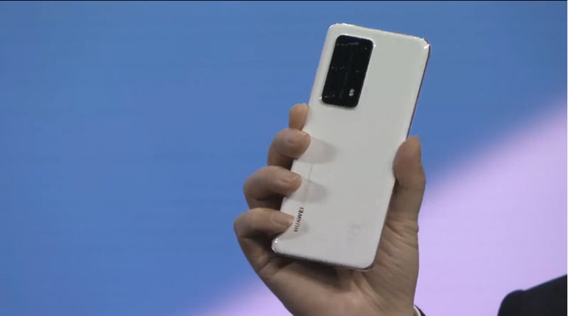 Huawei P40 Pro+ in White Ceramic.