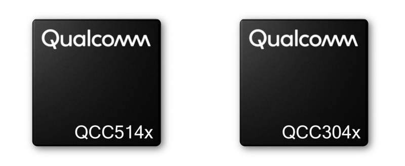 The Qualcomm QCC514X (premium tier) and QCC304X (entry/mid-tier) chips.