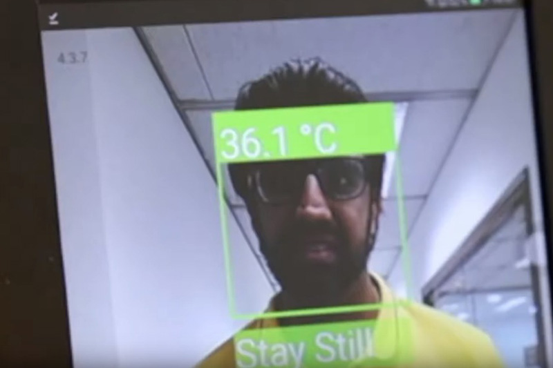 The RamcoGEEK facial recognition system. Image courtesy of Ramco Innovation Lab