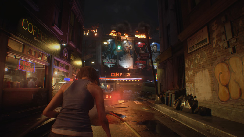 Raccoon City is an iconic location in the Resident Evil franchise, and it's brought to life beautifully here.