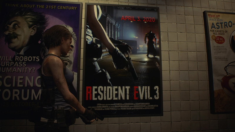 Hmm, that poster looks familiar. | Image: Capcom