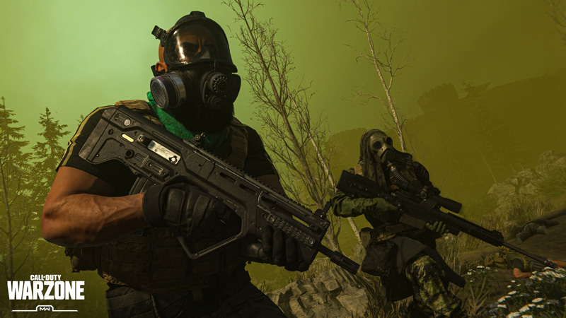You'll have to stay away from the circle of green gas! | Image: Activision