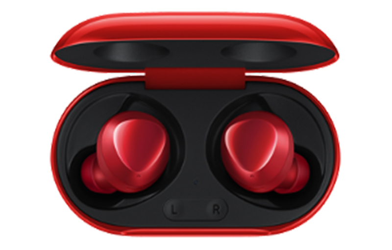 Galaxy Buds+ in Red.