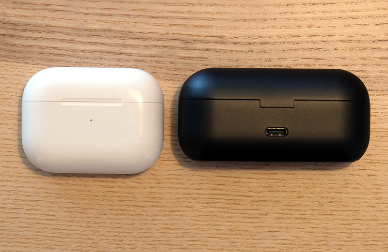 The 1More True Wireless ANC's charging case is a tad bigger than the AirPods Pro's and just about small enough to fit into most pockets.