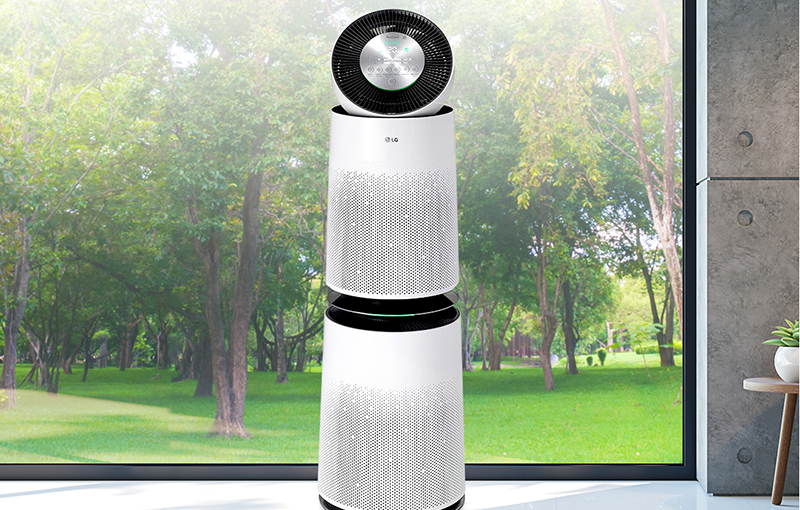 LG PuriCare 360-degree Double air purifier.