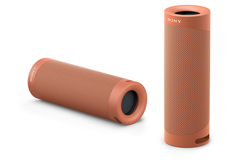 Sony SRS-XB23 in Coral Red.