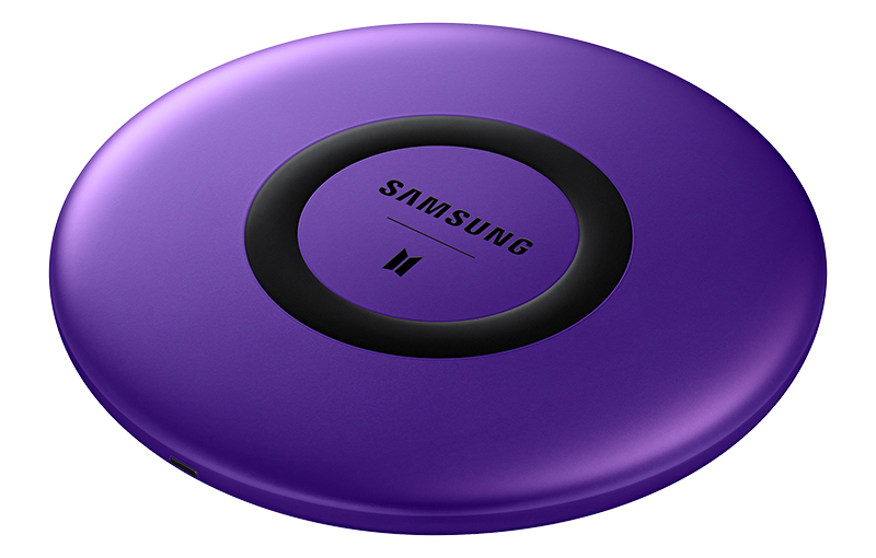 Samsung Wireless Charger BTS Edition for smartphones. Source: Samsung.