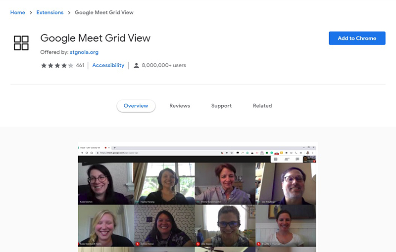 Need to see more than 16 participants? Try this extension instead.