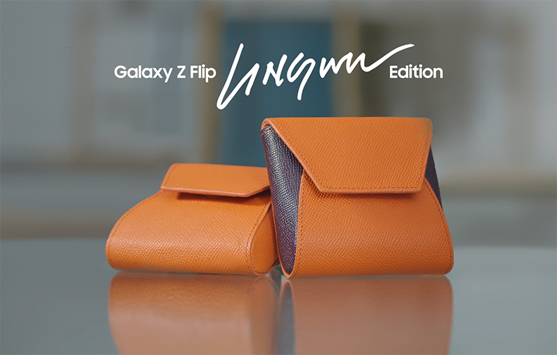 Ling Wu capsule bag, a little pouch for the Galaxy Z Flip.