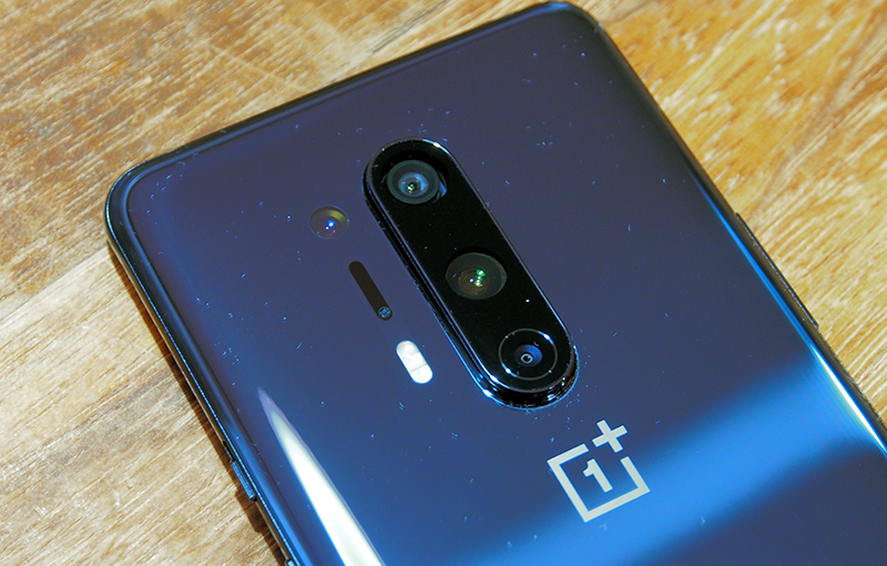 The camera module on the OnePlus 8 Pro.
