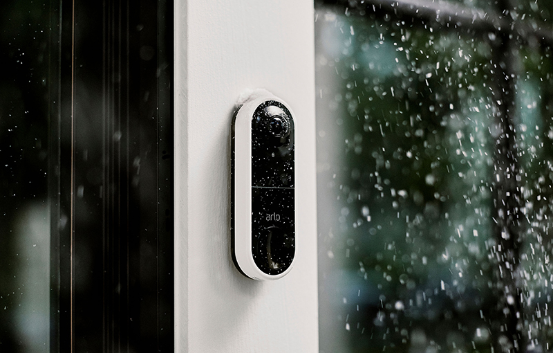 Arlo's rendition of their Weather-resistant Design feature on the Arlo Video Doorbell.