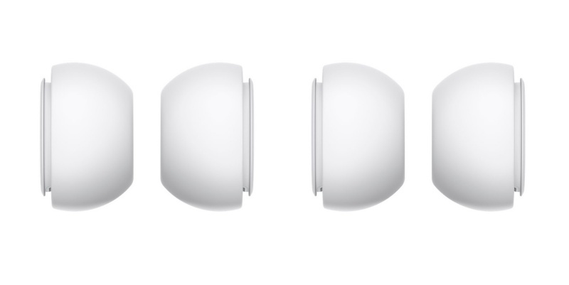 The AirPods Pro ear tips come in two sets.