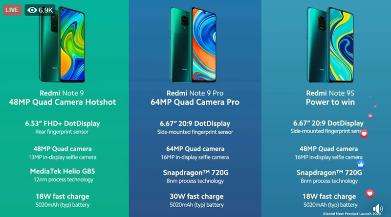 Xiaomi Redmi Note 9 And Redmi Note 9 Pro Comes To Singapore Hardwarezone Com Sg