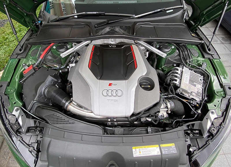 The 2.9-litre twin-turbo V6 feels unburstable.
