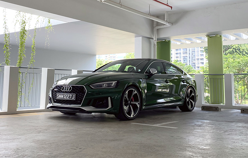 The Audi RS5 Sportback looks absolutely menacing.