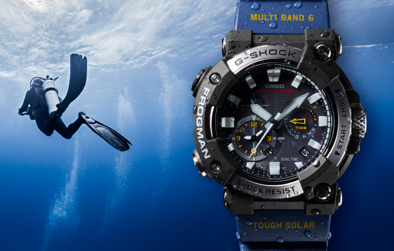 The new G-Shock Frogman GWF-A1000. (Image source: Casio)
