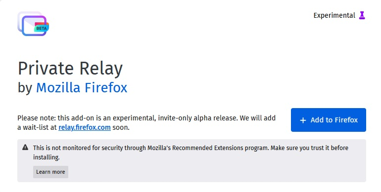 "To install, simply go to the add-on's page (URL below) and click ""Add to Firefox""."