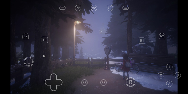 First version of Mobile Controls on Google Stadia. Source: Google Stadia.