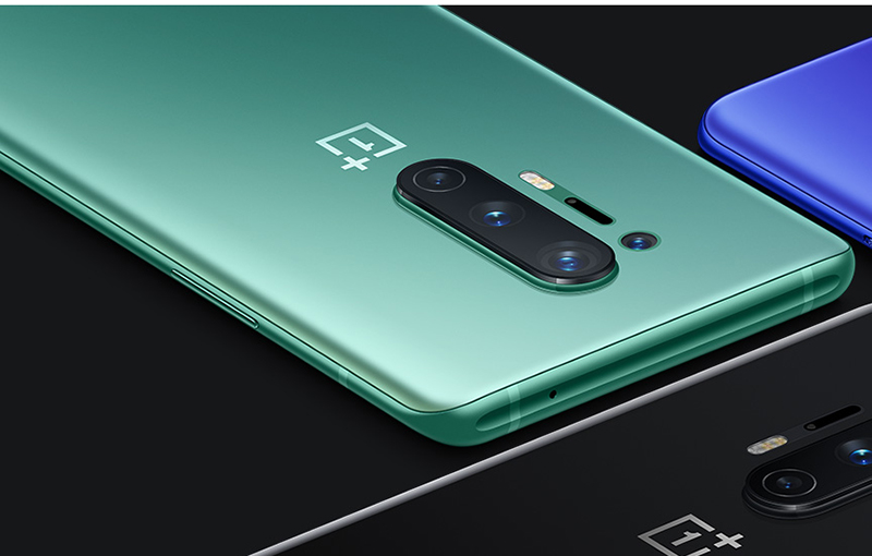 The Glacial Green OnePlus 8 Pro.