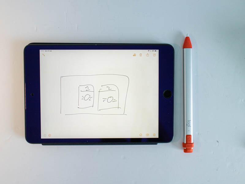iPad mini + Crayon = free flow of ideas!