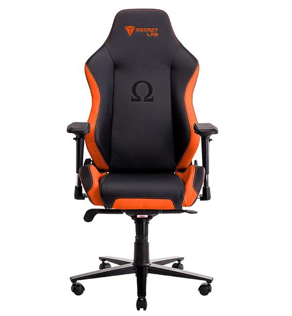 Secretlab Omega in Bright Orange.