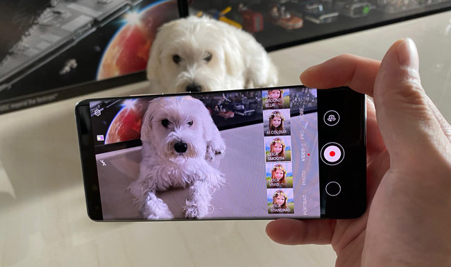 Stretch your creativity with the different filters available while video recording your favorite moments.