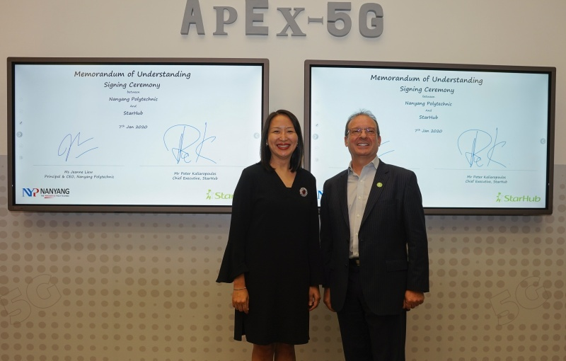 The launch of APEX 5G. (Image courtesy of NYP.)