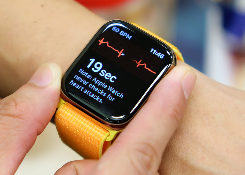 The Apple Watch Series 5 and its ECG app.