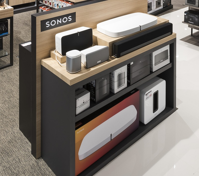 The large flat white product from Sonos is their 'under TV' speakers called the Playbase.