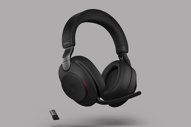 Another view of the Jabra Evolve2 85 headset.