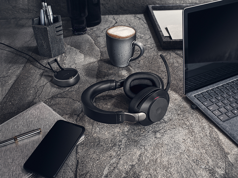 The Jabra Evolve2 85 is the lead model in the new communication series headsets.