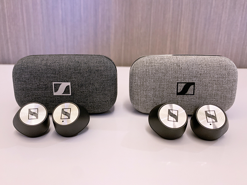 The Momentum True Wireless 2 (in dark grey on the left) looks virtually identical to its predecessor.