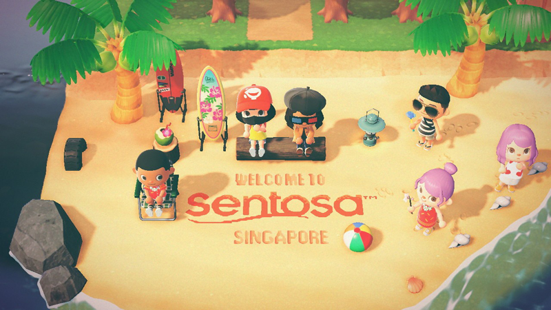 Sentosa has been lovingly recreated in this Animal Crossing island!