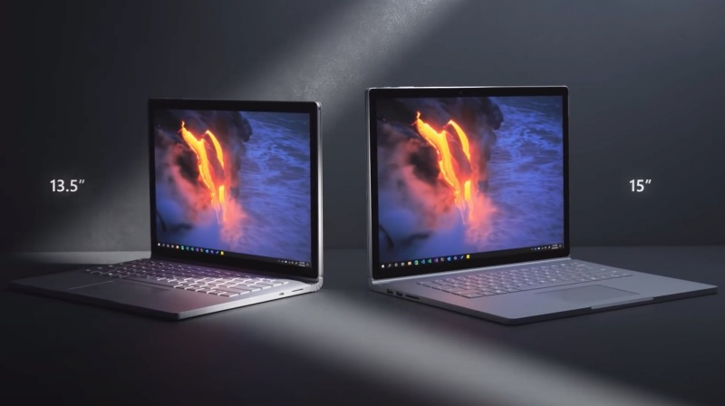 The Microsoft Surface Book 3.