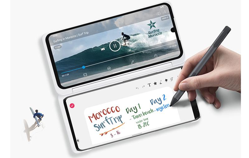LG Dual Screen for the LG Velvet, sold separately.