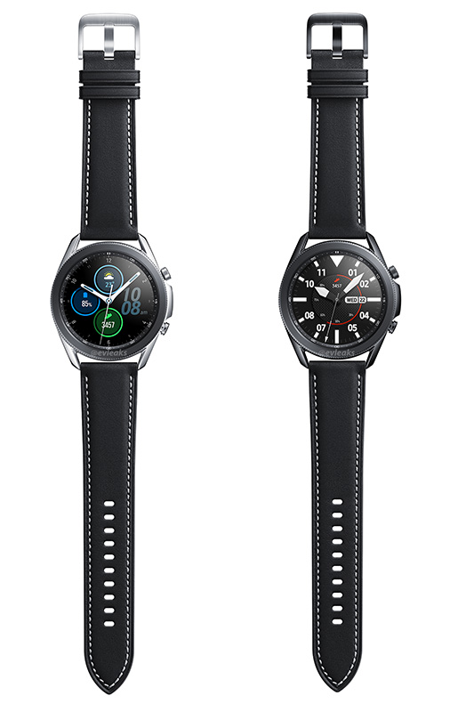 The Galaxy Watch 3 will also come in a black stainless steel case. (Image: Evan Blass (@evleaks) on Twitter.)