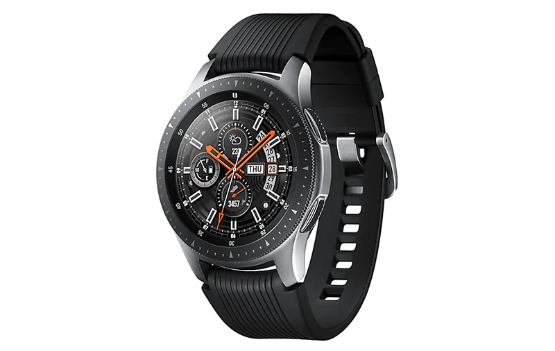 The 2018 Galaxy Watch is available in 42 and 46mm sizes. (Image: Samsung.)