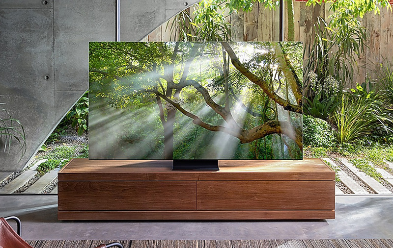The Q950T is Samsung's flagship QLED 8K TV for 2020. (Image: Samsung.)
