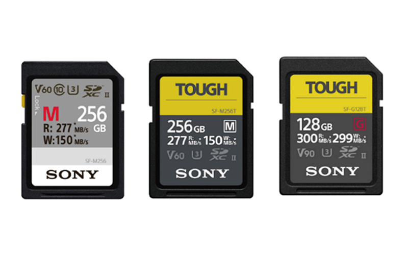 The affected cards are in Sony's SF-M series, Tough SF-M series and Tough SF-G series. (Image: Sony.)