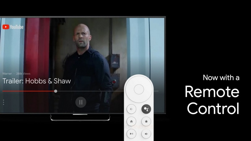 The remote control of the upcoming Android TV dongle. <br>Image source: XDA Developers.