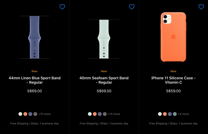 The Apple Watch Sport Bands and silicone iPhone cases come in new summer colours.