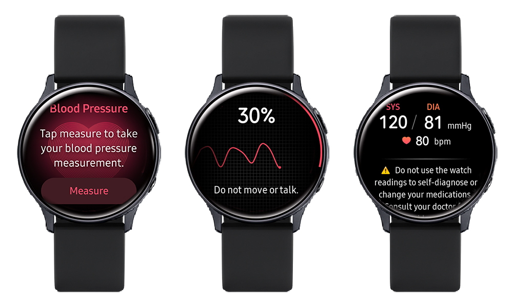 Galaxy Watch Active2 users in South Korea can measure and track their blood pressure via the Samsung Health Monitor app. <br>Image source: Samsung