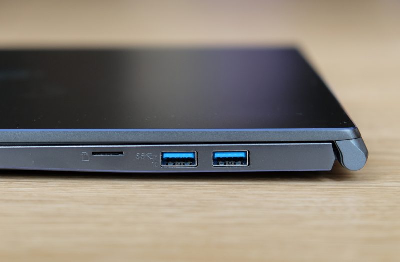 Though the Prestige 15 is just 15.9mm thick, it has two full-size USB 3.2 Gen 2 ports.