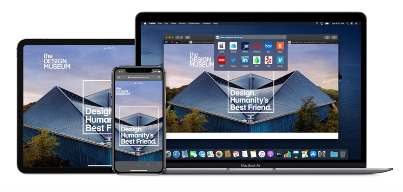 Safari is the native browser for Apple devices.