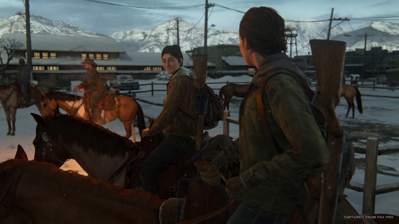 It takes a lot to write natural-sounding dialogue between friends, but Naughty Dog nails it here. It's fun to just listen to these characters talk, and slowly peel back their histories with one another and the town they live in. | Image: Sony Interactive Entertainment