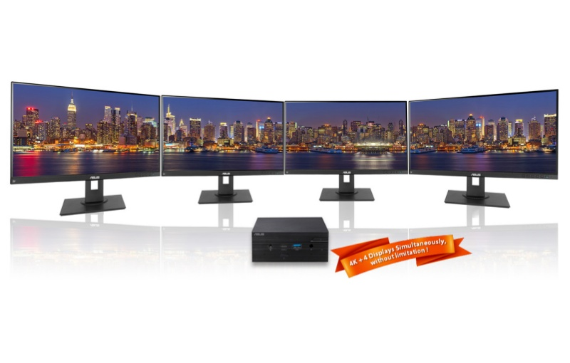 There is support for up to four 4K monitors