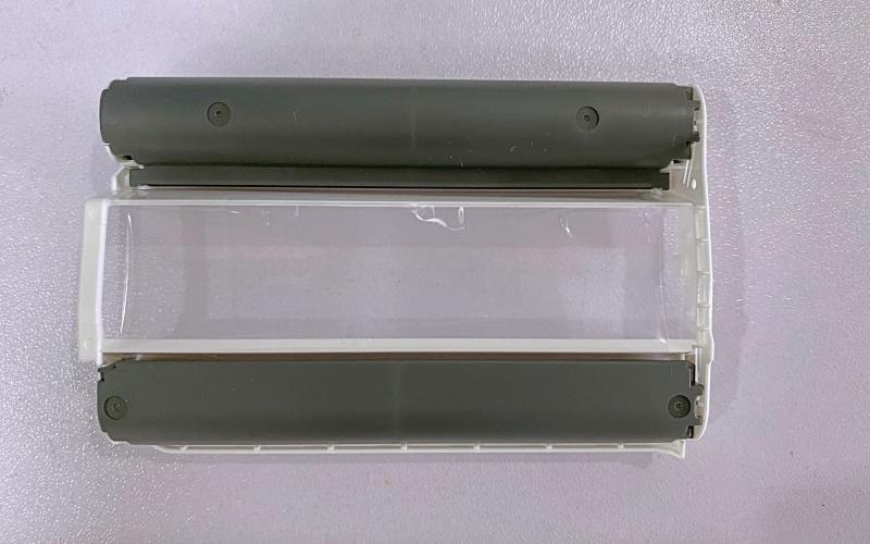 The QX10's dye-sub cassette cartridge.