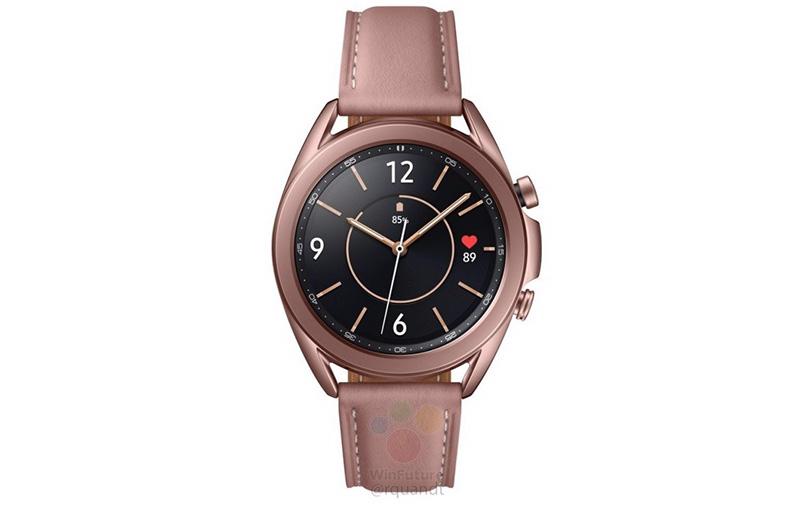 Samsung Galaxy Watch 3 41mm in bronze. (Image: WinFuture.)