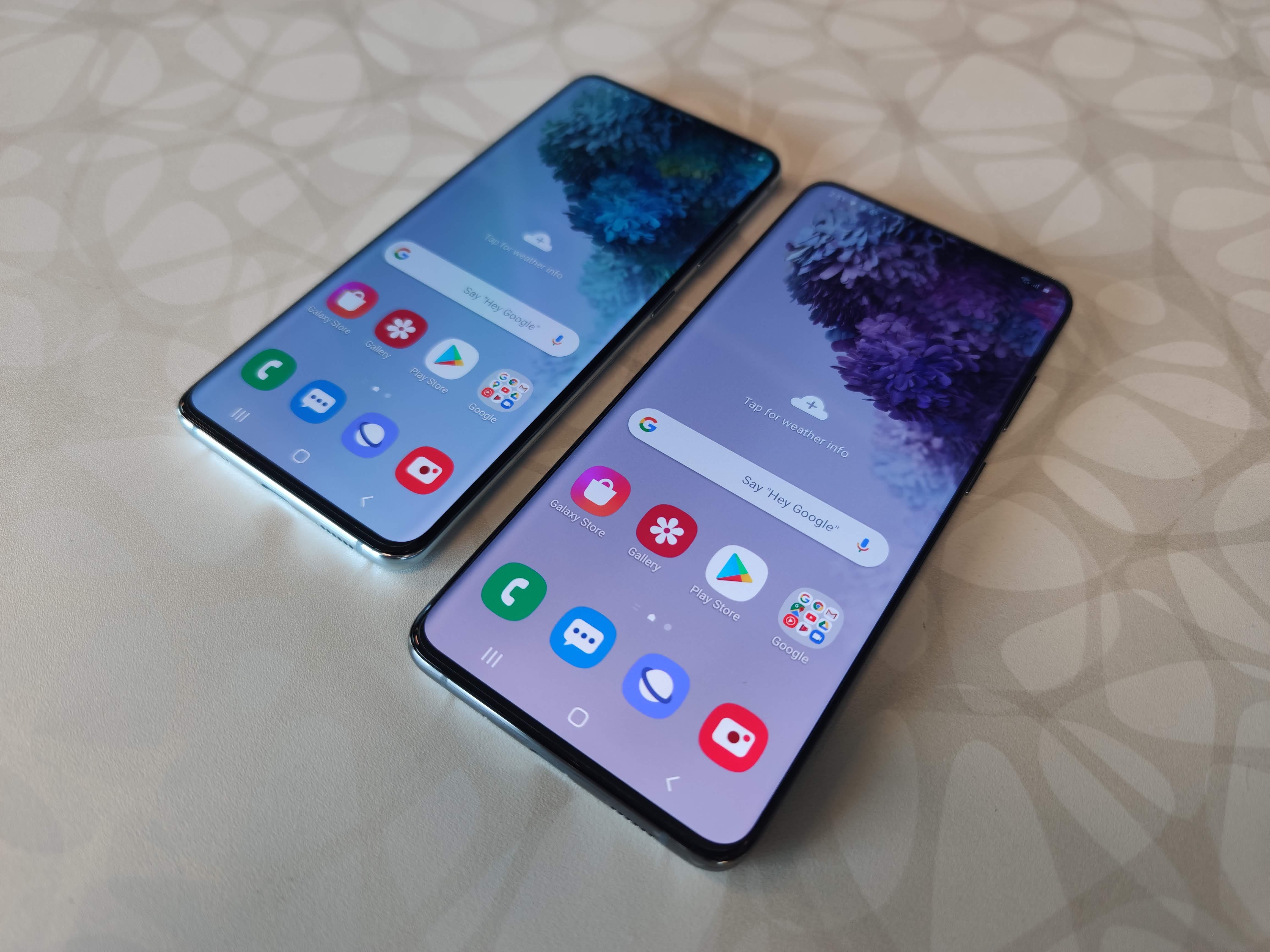 The Samsung Galaxy S20 series.